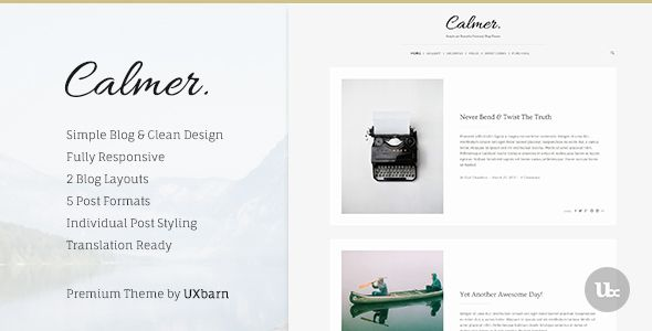Calmer theme is designed for the blogger like you who have a lot of valuable stories to share. There are many reasons why you are going to love this blog theme. Content is king, design is queen. Great stories can be more stand out with a great design. The design can improve the overall emotions of your blog and represent your unique character. The readers will feel a lot more engaged in your journey. #food #blog #design