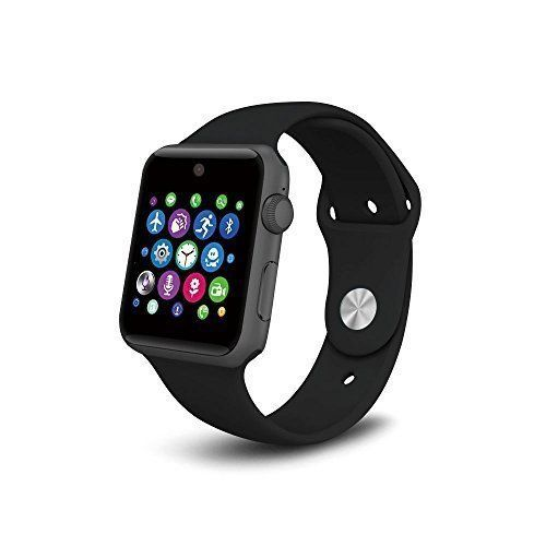 Smart Watch Cell Phone Bluetooth Sync iOS Android Smartphones Camera Black New #Androidly
