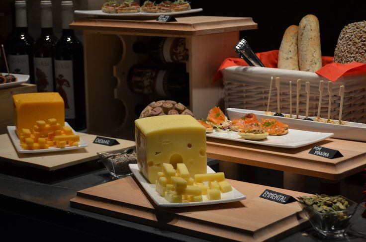 Cheese selection on our buffet for the Crama Oprisor wine tasting event.