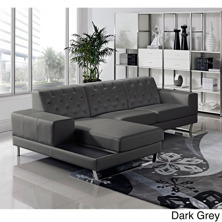 Enjoy this well design, sturdy built, unique style contemporary leather sectional sofa set. This is going to be the focus of your upgraded living room for the days to come