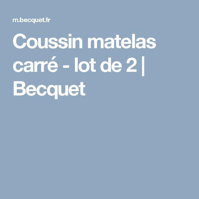 Coussin matelas carré - lot de 2 | Becquet