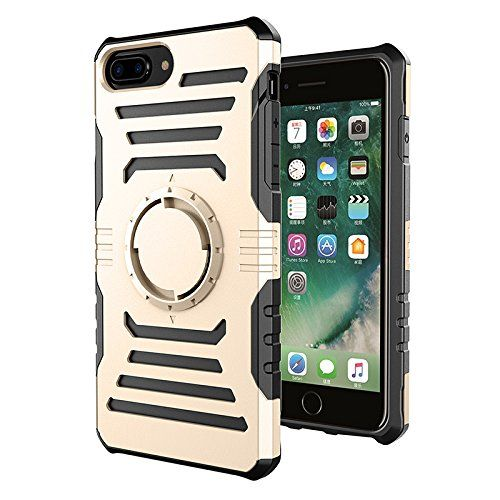 Lakey Newest Luxury For iPhone 7G 7 Plus Magnetic case Gym Sports Running Armband Arm Band Case Cover TPU+PC Magnetic case (gold for iPhone 7P)