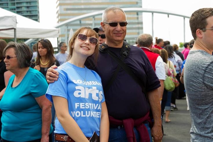 Katie and I at the Columbus Arts Festival 2012