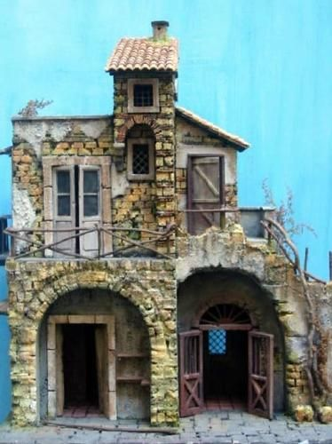 Architetture e paesaggi per presepe napoletano