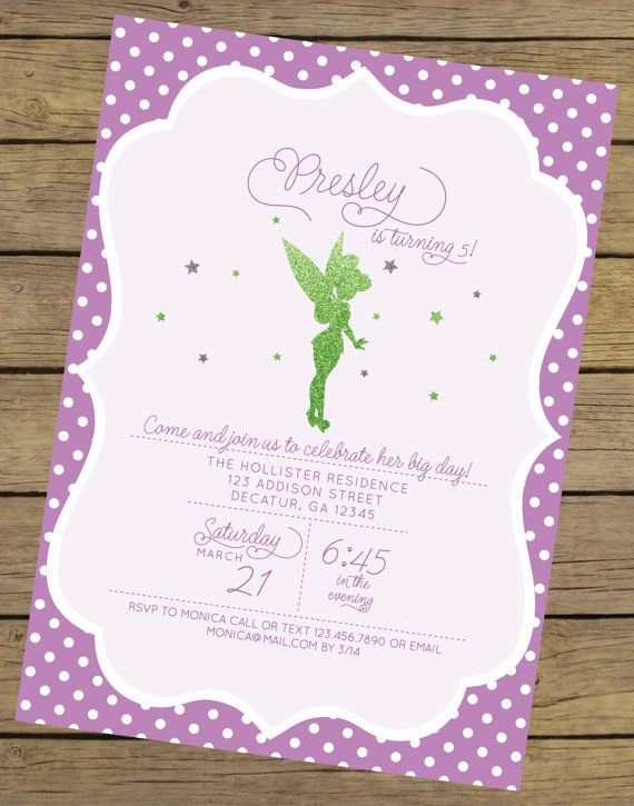 Glitter Fairy Invitation Fairy Birthday by CharlesAlexDesign