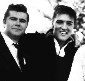 Elvis Presley and vibraphonist Warren Smith