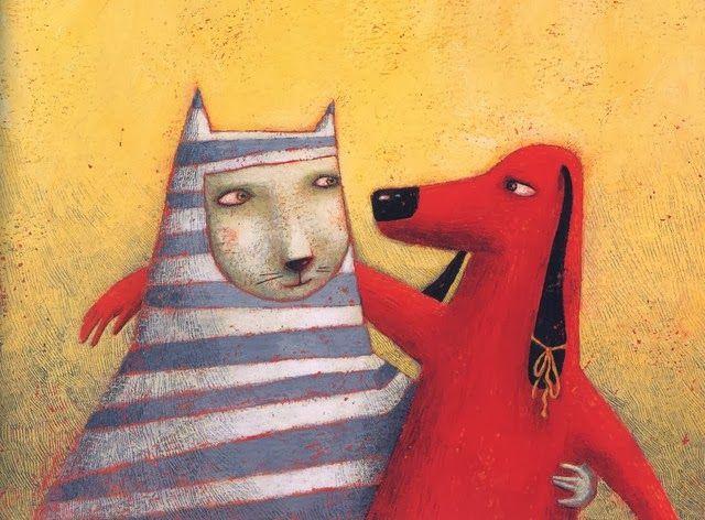 amigos, ilustración de Alessandra Vitelli