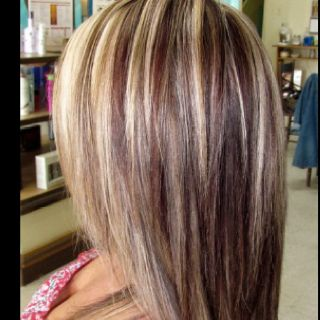 90 best hair i 3 images on pinterest colors braids and creative this is heavy blonde fading to a auburn shade blended with the blonde basically the front has bold blonde streaks with smallerd arburn and the further back pmusecretfo Choice Image