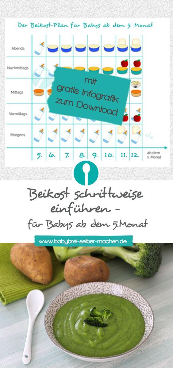 Beikost einführen für Babys ab dem 5. Monat: So geht es – Babybrei-selber-machen.de