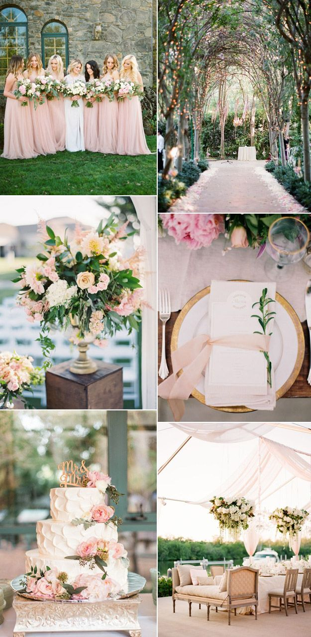 Romantic Wedding Inspiration from B&E Lucky in Love Wedding Blog