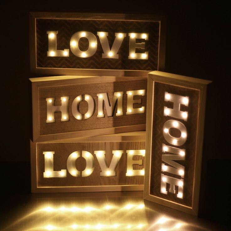 Love HOME Love  #love #home #led #decoración #iluminación #hogar #navidad #christmas #letreros #iluminados