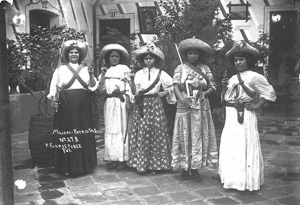 Adelitas/a term used for Mexican revolutionary women. This woman used to follow Pancho Villa and Emiliano Zapata.