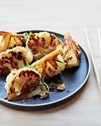 Sautéed Cauliflower Wedges with Bagna Cauda Recipe   Food & Wine #cauliflower #vegetables #bagna_cauda