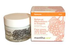 Face cream with Mastiha oil & Grape for normal and dry skin Contains: -Mastiha Oil: Offers antimicrobial and healing properties. -Olive and Macadamia Nut Oil: Moisturizes the epidermis, offers antioxidant protection. -Grape seed, Polyphenols, and Vitamin E: Antioxidants that enhance the health of the skin and help preserve its suppleness. -Wheat Germ Oil: Nourishes, free radical scavenger - See more at: http://www.greekpharma.com/shop/face-cream-mastiha-oil-grape-40-ml/#sthash.ooIcrtmW.dpuf