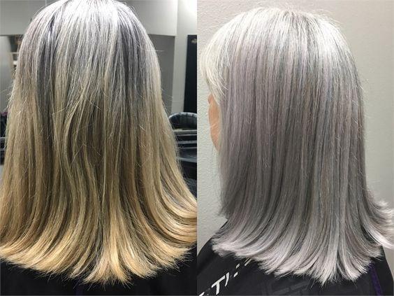 COLOR CORRECTION: Matching Natural Silver Hair