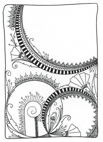 Zen Doodle Art By June Crawford