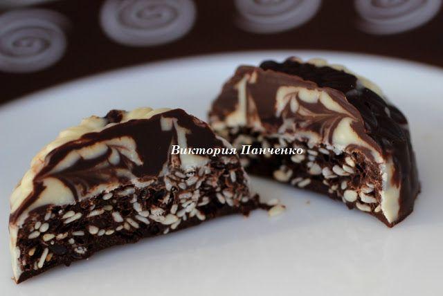 """ПОБЕДА ВКУСА : Шоколадные конфеты с сезамом """"Мраморные"""" и """"А-ля Монблан""""."""