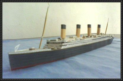 RMS Titanic Free Ship Paper Model Download