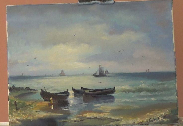 Взморье рыбацкие лодки 1 часть