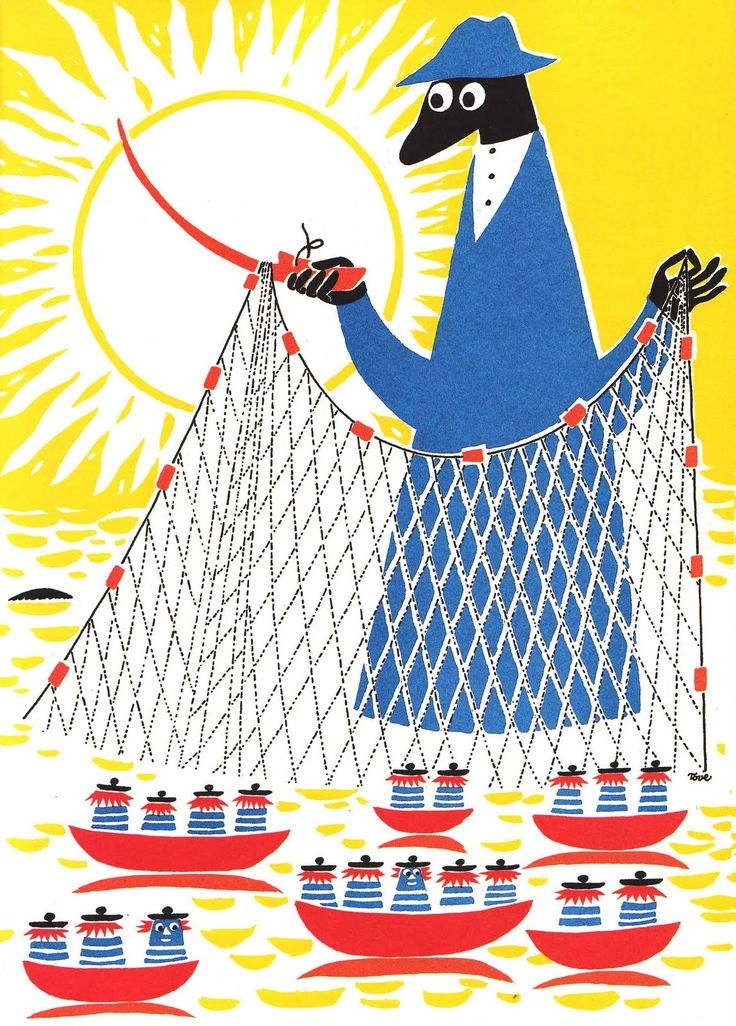 "Illustration from ""Who Will Comfort Toffle?"". Tove Jansson, 1960."