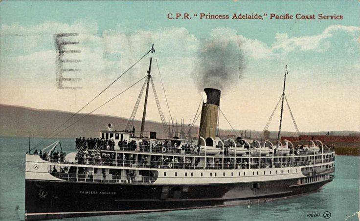 Princess Adelaide- CPR steamer on BC coast from 1911-1949
