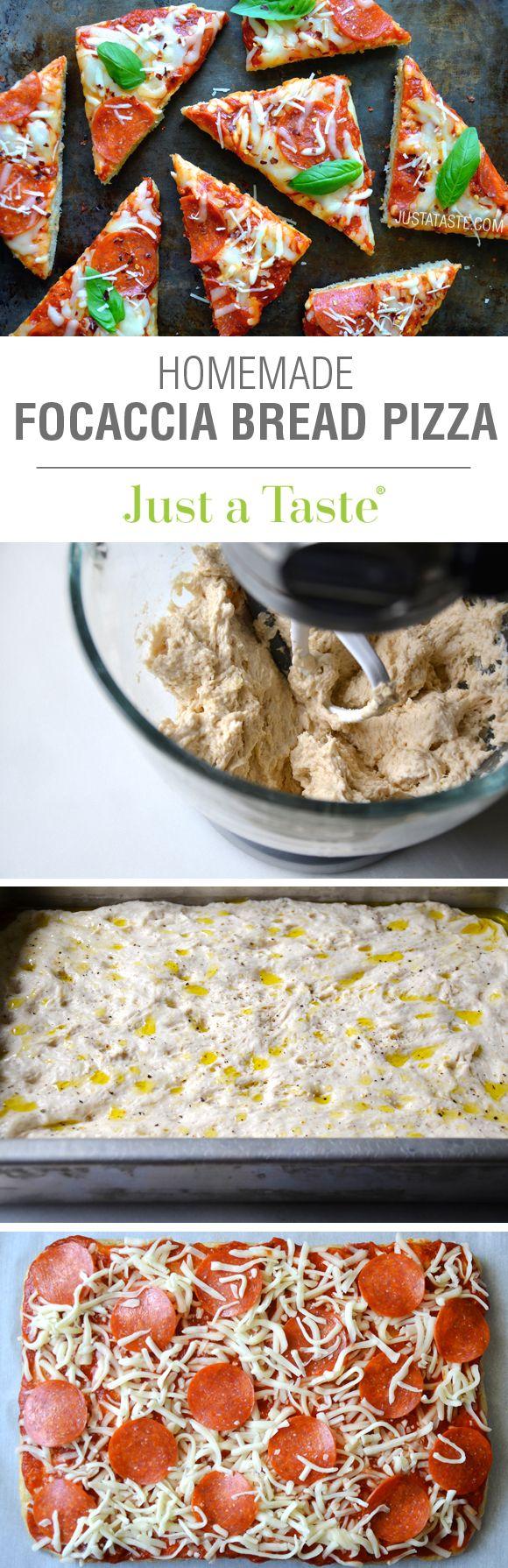Homemade Focaccia Bread Pizza #recipe on justataste.com