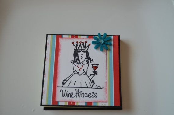 Wine Princess Post it Note on Etsy, $5.47 CAD