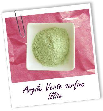 Argile illite verte surfine Aroma-Zone
