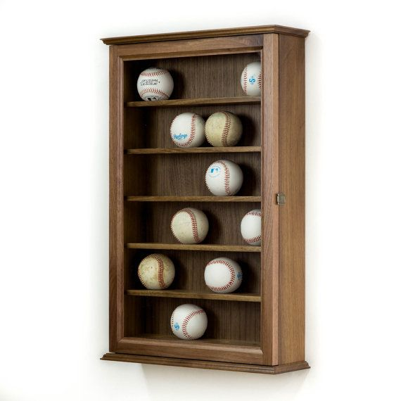 You Will Find Many Baseball Display Cases Available Online But Nothing Built Like This Made In The USA Of Solid Hardwood 6 Indented Shelves Hold 24