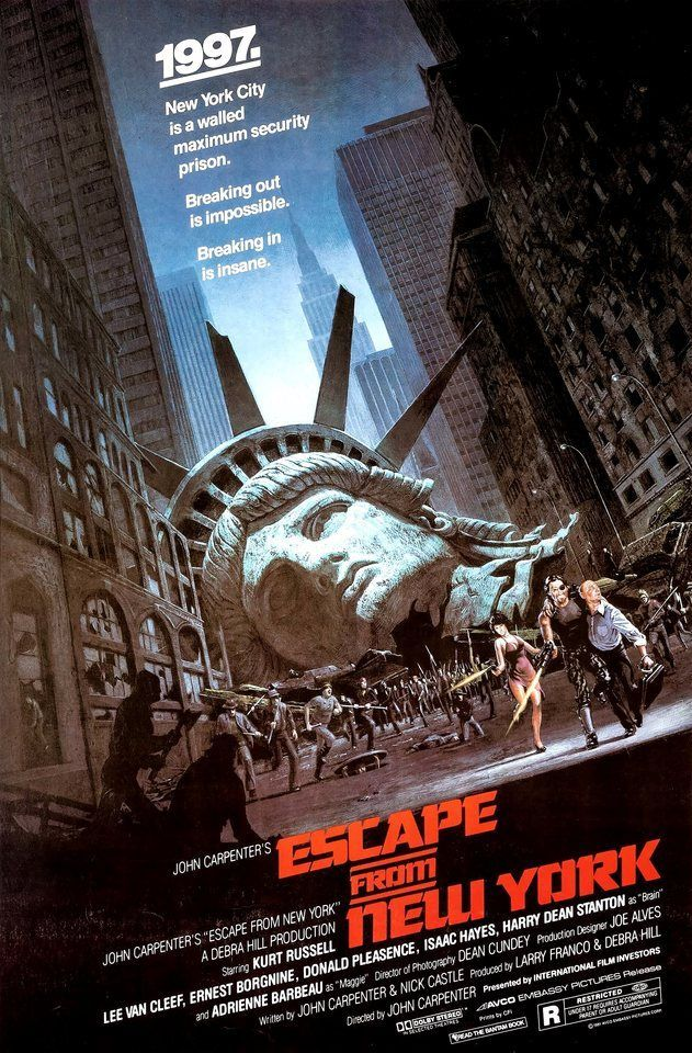 Escape from New York (Avco Embassy, 1981). Poster. Science Fiction.