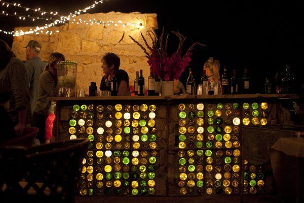 How to build a festive bar out of bottles