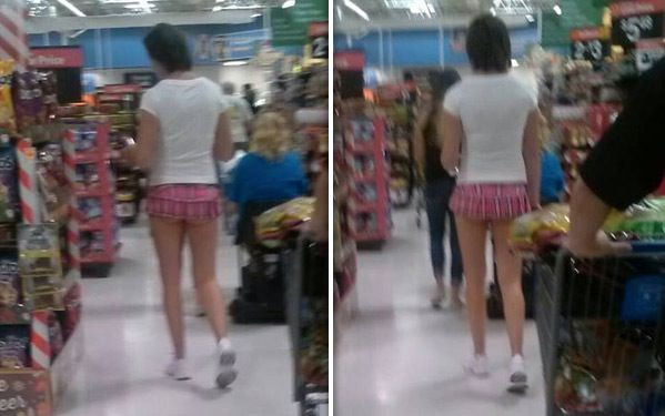 Hot Legs and Pink Short Shorts at Walmart. Is It A Guy or ...