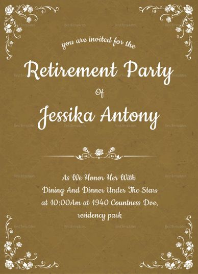 The 25+ best Retirement invitation template ideas on Pinterest - invitation template publisher