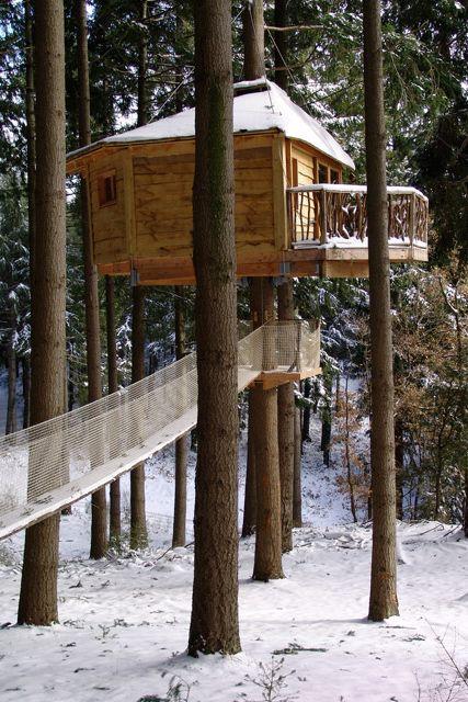 Tree houses in Girona.