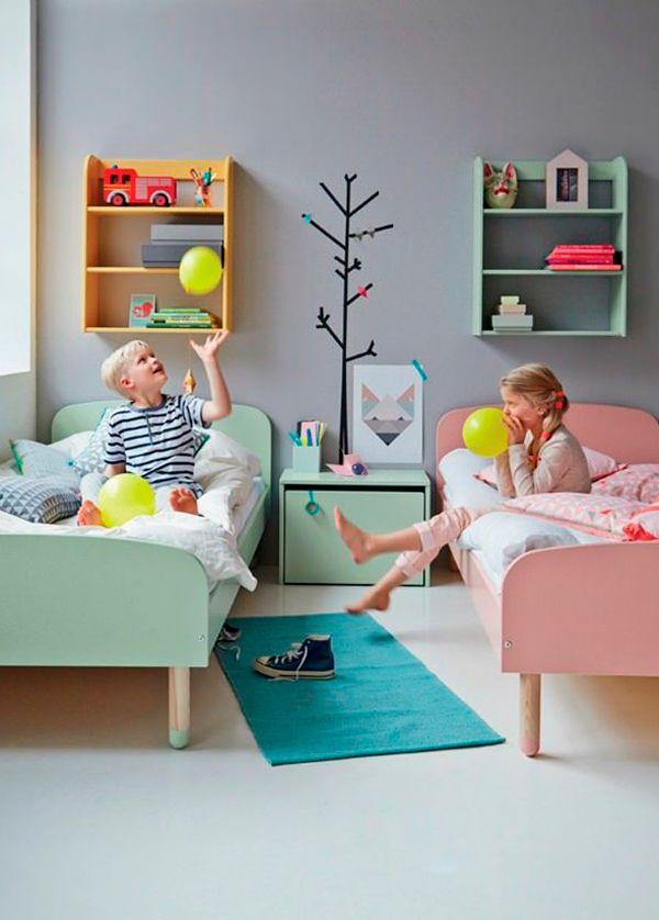Dormitorio infantil mixto #dormitorioparaniñoyniña #dormitoriocompartido #habitacionesinfantiles