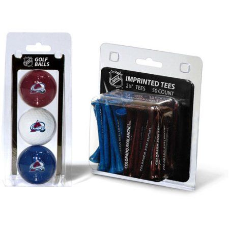 Team Golf NHL Colorado Avalanche 3 Golf Balls And 50 Golf Tees, Red