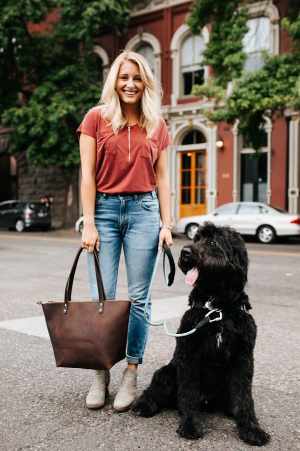 edfaba000b6e Shopping for the best leather zipper tote out there? Check out the handmade Grizzly  Leather Zipper Tote. It's the perfect Tote for city life on the run!