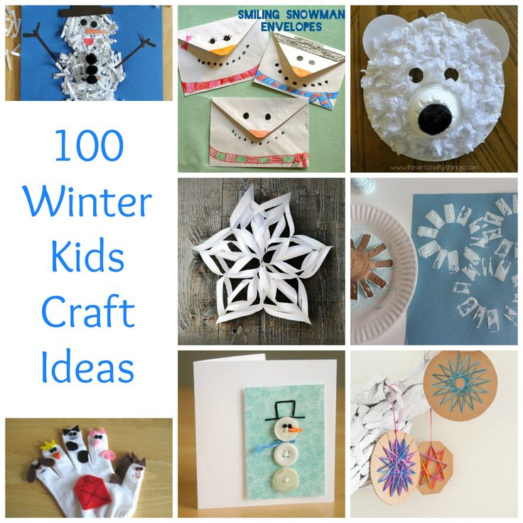 Pibterest Cast Ideas For Kids: 100+ Winter Kids Crafts To Beat The Winter Blues
