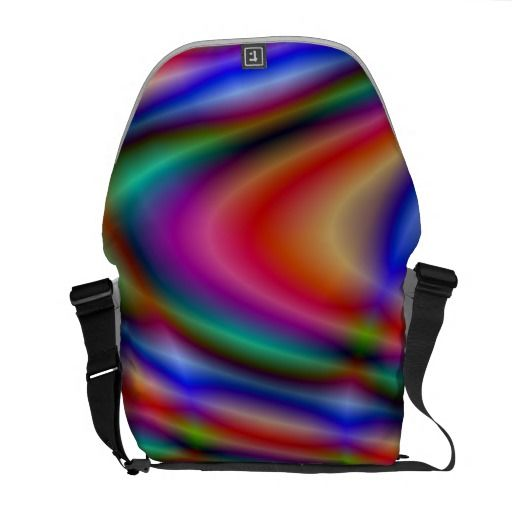 Colorful abstract pattern courier bag