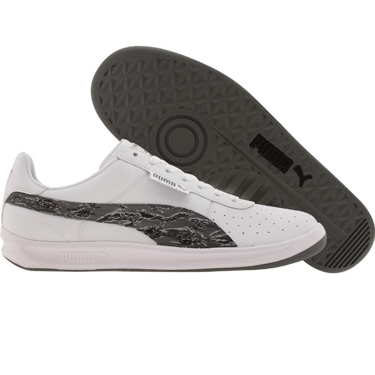 Puma G Vilas L2 CD shoes in white and steel grey. $64.99