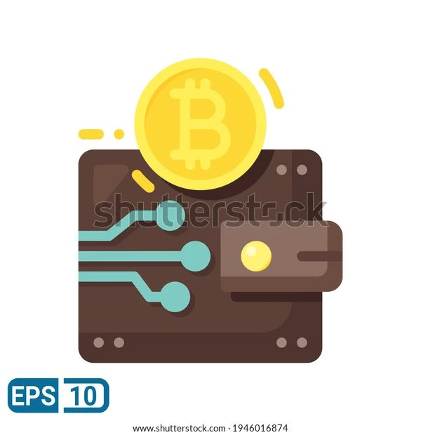 Bitcoin Icon Flat Style Isolated On Stock Vector (Royalty Free) 1946016874