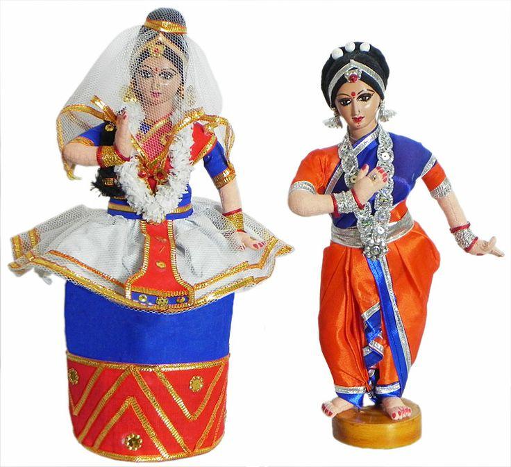 Манипури и Одисси Dancer - Ткань