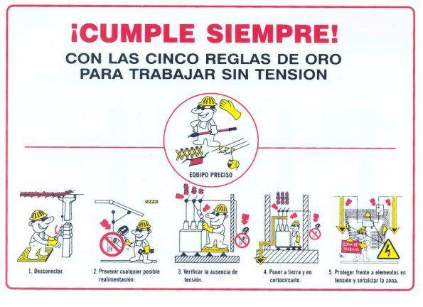 RIESGO ELÉCTRICO-5 reglas de oro