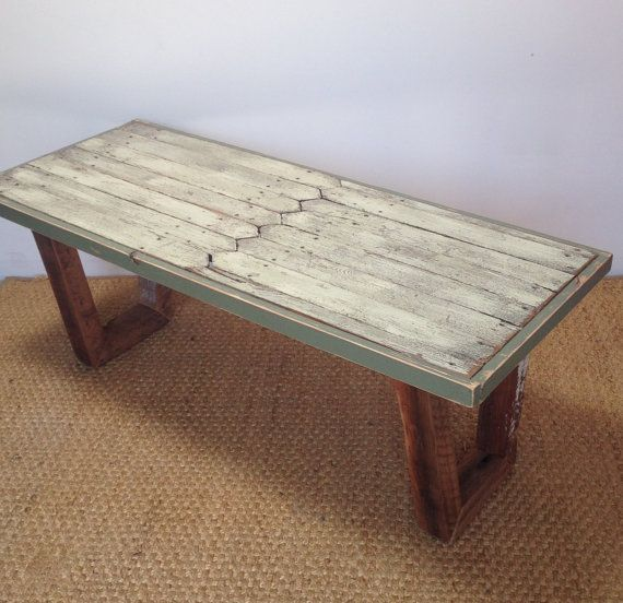 Repurposed Picket Fence Coffee Table