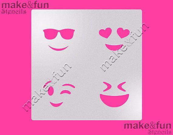 Emoji Stencil for chocolate covered Oreos Cookie Stencil