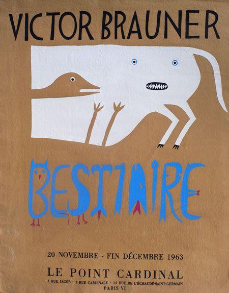 Victor Brauner, Bestiaire, 1963