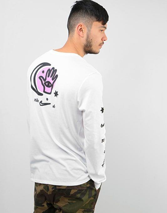 ae2d733da Nike SB DFC Moon L/S Dri-Fit T-Shirt - White/White/Black   Skate Clothing    Mens Skateboard Clothes   Route One