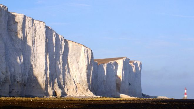 Recent centuries have seen a big jump in the erosion of England's iconic chalk coast