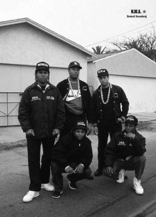 NWA, look at those chains!  This takes me back, so bad ass!