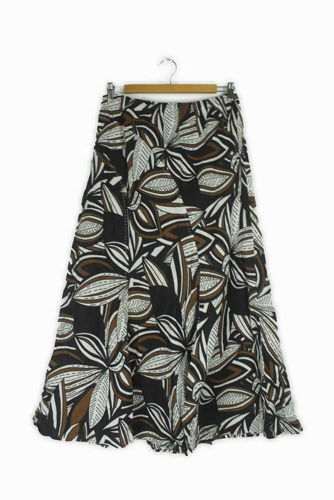 83055ed984 (eBay link) Windsmoor brown black & white leaf pattern midi skirt Size 12 # fashion #clothing #shoes #accessories #womensclothing #skirts